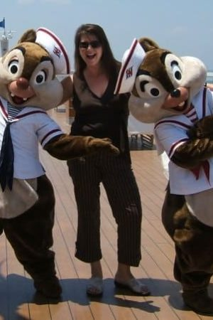 Sandra Halket of Click the Mouse on the Disney Magic cruise ship