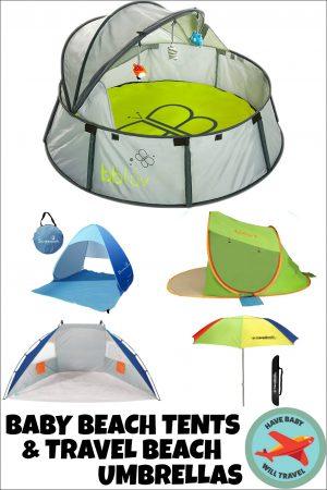 baby beach tent, portable sun shelter, infant beach tent, baby beach gear, best baby beach gear, travel beach umbrellas