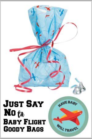baby flight goody bags, baby flight goodie bags, airplane goody bag, airplane goodie bag, fly with baby goody bag, goody bag for airplane passengers