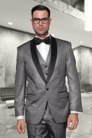 Tuxedo Modern Slim Fit Shawl Lapel Single Button in Gray