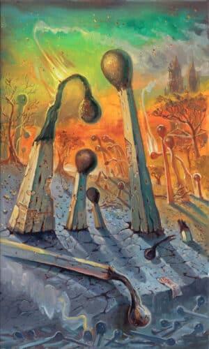 Escape, Painting by Alex Levin