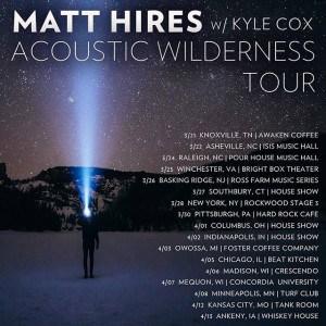 Matt Hires - 2017 tour dates