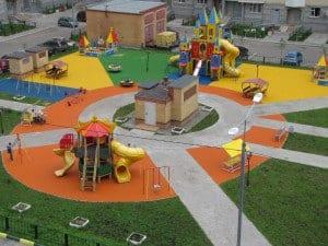 Купить резиновое покрытие для детских площадок.