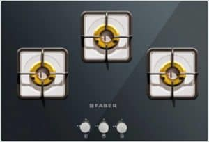 FABER HCT 753 CRS LBR EI Glass Hob with 3 Burners