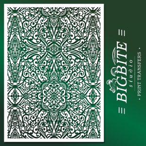 Shabby Chic Stencil Wallpaper Trellis Pattern