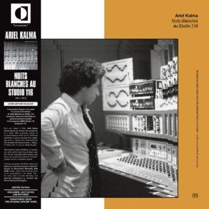 Ariel Kalma - Nuits Blanches Au Studio 116 - TRS12 - TRANSVERSALES DISQUES