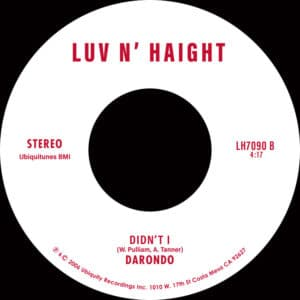Darondo - Listen To My Song / Didn't I - LH7090 - LUV N' HAIGHT