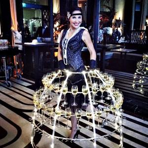 Soirée champagne thème Années 1920 robe champagne