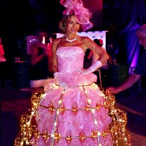 Robe à champagne pour soirée anniversaire Metral Passy
