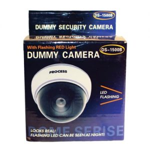 Dummy Dome Camera With LED, White Body Retail Box
