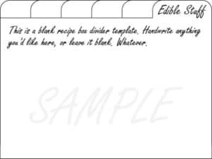 blank recipe card dividers