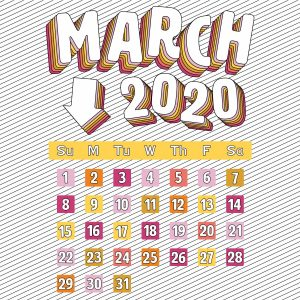 Image of March 2020 Calendar