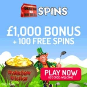 Deal or No Deal Spins 100 free spins and 100% casino bonus