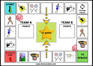 Printable Board Game - Sports