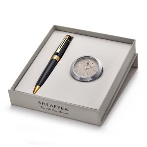 Sheaffer 9325 Ballpoint Pen With Chrome Table Clock Rs. 2400