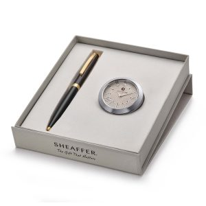 Sheaffer 9471 Ballpoint Pen With Chrome Table Clock Rs. 2400