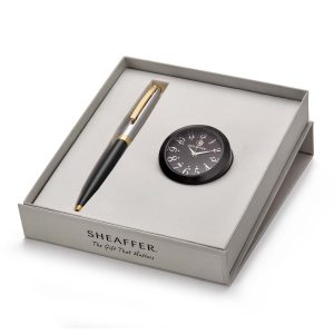 Sheaffer 9475 Ballpoint Pen With Black Table Clock Rs. 2400