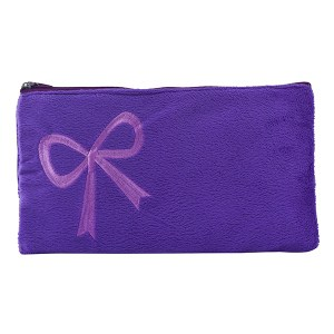 Purple Synthetic Fur Stylish & Premium Fluffy Pouch Pencil Pouch, Hand Pouch, Mobile Pouch to Store Your Valuables For Kids / Teenagers / Girls & Womens Pouch