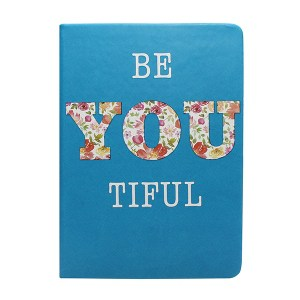 BeYouTiful- A5 Perfect Bound PU Leatherite Cover Notebook Inspirational / Motivational Quote Printed / Designer Covers Combined With Ruled Sheets Notebook for Personal Notes, Office Diary, School Book, College Notes