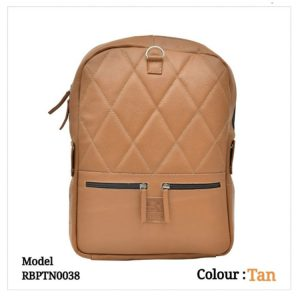 Leather Backpack 0038 Tan
