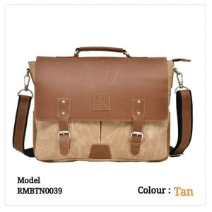 Leather Office Laptop Messenger Bag 0039 Tan Brown