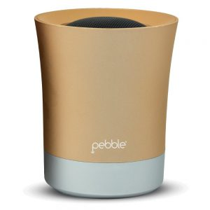 Pebble Wireless Portable Bluetooth Speaker Grey and Gold