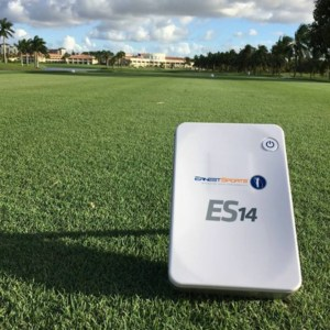 Ernest Sports es14 golf launch monitor outdoor view
