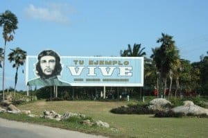 cuba for kids, che billboard, cuba billboard, che in cuba, your example lives, cuba che billboard