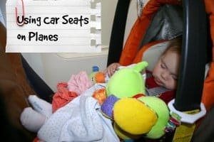 using car seats on planes, flying with car seats, car seat on planes