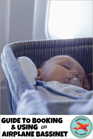 how to book an airplane bassinet
