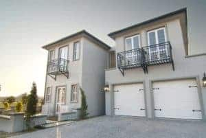 gray exterior painted home