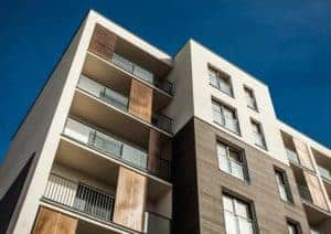 apartment complex with exterior painting and staining
