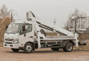 Автовышка HINO 300 XZU720L до 7,5т АГП