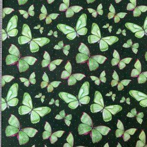 Jersey print med sommerfugle i mint