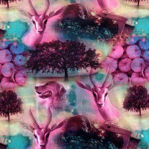 Jersey print med fuchsia dyr