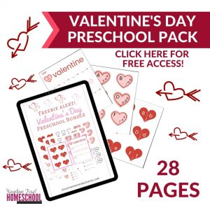 Free Valentines Day Preschool Pack