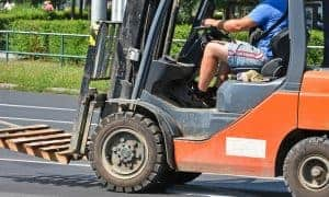 The forklift truck and the DVLA