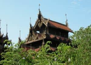 Golden Palace Monastery in Mandalay