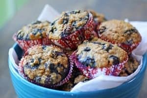 healthy blueberry muffin recipe
