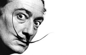 Salvador Dali with his glorious mustache