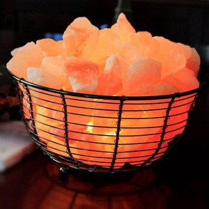 Decorative basket salt lamps