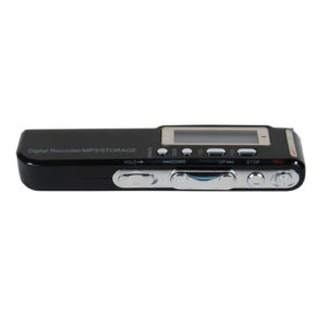 Digital Voice/Telephone Recorder With MP3 Function Side Button View Lying Down