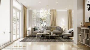 Mẫu thiết kế phòng khách biệt thự đẹp