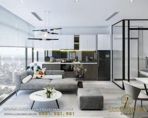 Thiết kế căn hộ cho thuê phương án 2