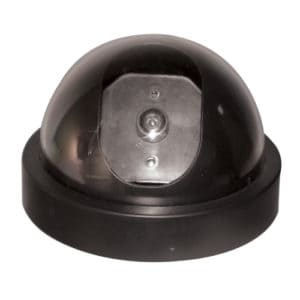Black Ceiling Dummy Dome Camera for Home Security Deterrence Front View