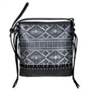 Montana West Conceal Carry Crossbody Black Front View