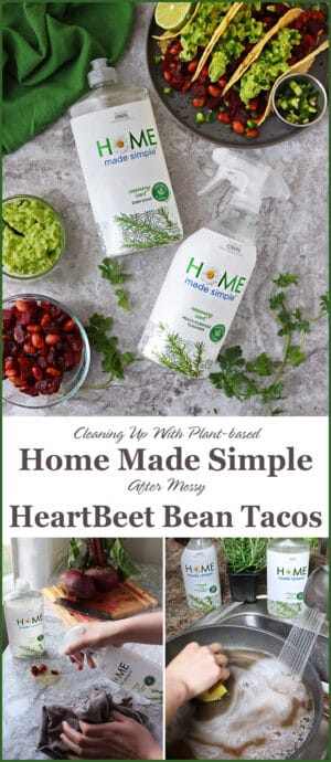 #ad I so heart how @homemadesimple Line of plant-based cleaning Productshelp me clean up after my beet messes! They have my house smelling wonderful - and, they are phosphate and dye free! #HomeMadeSimple products can be found at most @Walmart stores #WalmartFinds. Check out this link http://spr.ly/savoryspinHMS to read more about Home Made Simple.
