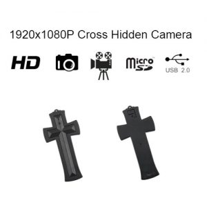 Cross Neck less with Hidden Spy Camera and built in DVR Front and Back View