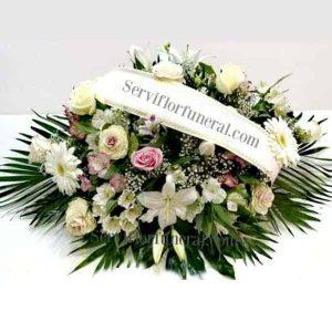 centro de flores funerario amor leal