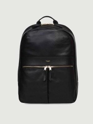 Knomo-Beaux-Rucksack- Backpack Black schwarz Leder kaufen bei stylekrone.com